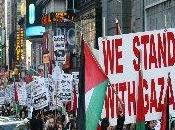 Large manifestation anti israélienne New-yorkais pour commémorer l'offensive Gaza