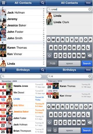 Synchroniser son facebook avec ses contacts iPhone