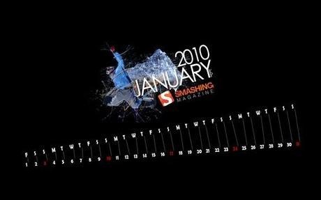 Extreme-winter in Desktop Wallpaper Calendar: January 2010