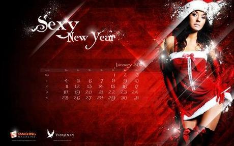 Sexy-new-year in Desktop Wallpaper Calendar: January 2010
