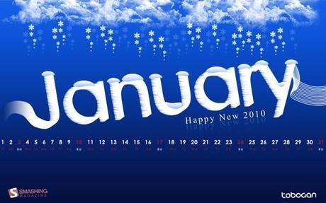 Snow-in-january in Desktop Wallpaper Calendar: January 2010