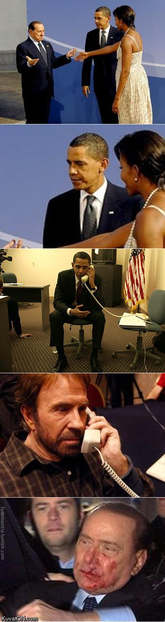 picture story obama chuck norris