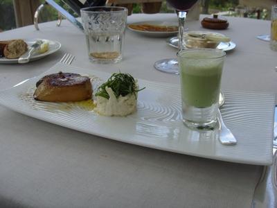 20090531 marc meneau esperance relais chateaux 05 foie gras celeri cresson 2009 : rétrospective  (ChrisoScope)
