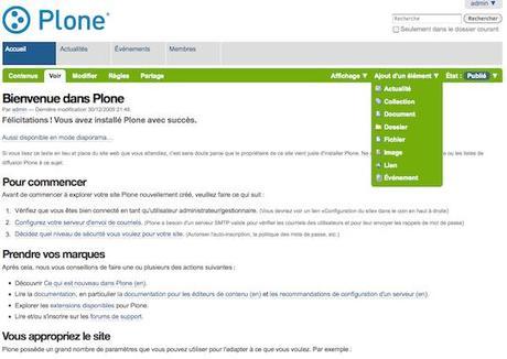 Types de contenus dans Plone 4