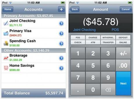 iBank Pour iPhone interface 2