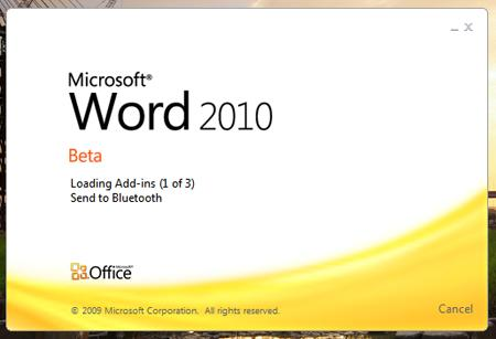 word 2010 Noël selon Microsoft : Office 2010 et Visual Studio 2010 en béta...
