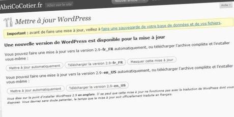 Wordpress 29 mise a jour #2 Découvertes du Web…