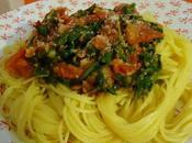 Spaghetti roquette tomate