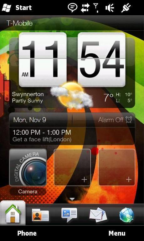 HTC HD 2 screen