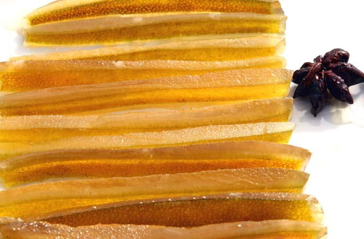Candied grapefruit peel zeste de pamplemousse