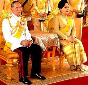 Le roi et la reine de Thaïlande