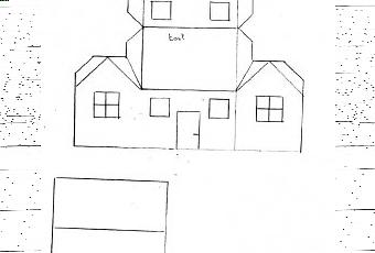 Construire une maison en papier avie home - Comment construire une maison en carton miniature ...