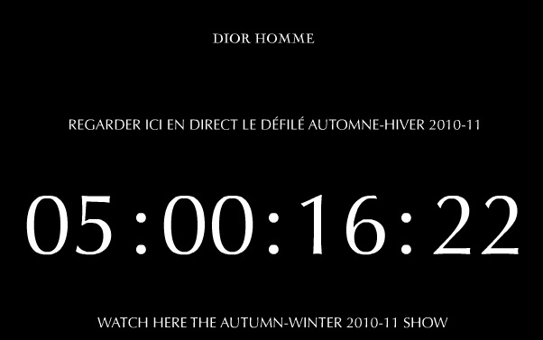 Post image for Les défilés en direct de Paris sur Internet : Dior Homme