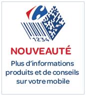 Carrefour s'essaye aux codes 2D dans ses catalogues produits.