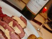 Notre plat Noël Magret canard foie gras, poêlée champignons grenade