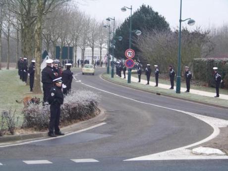 Obsèques d'un policier mort en service
