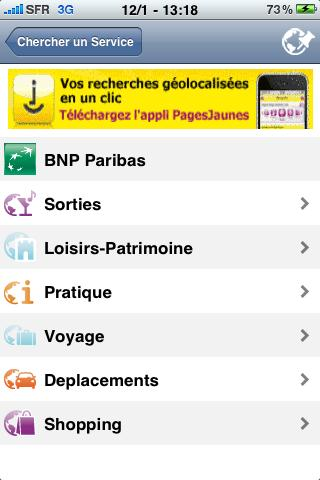 Mappy sur iPhone