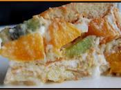 Charlotte pêche-kiwi fromage blanc