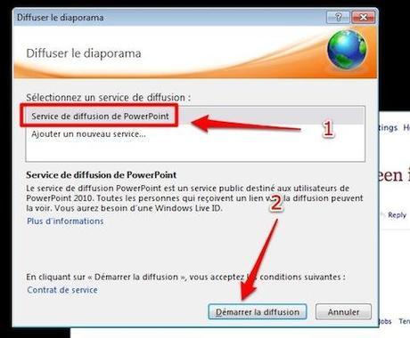 selectionnez service presentation Office 2010: Comment organiser une présentation en ligne [PowerPoint]