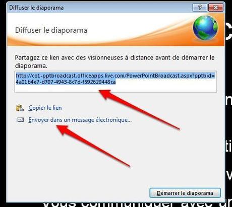 lien url powerpoint Office 2010: Comment organiser une présentation en ligne [PowerPoint]