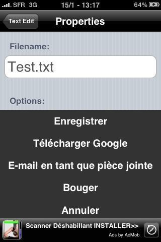 Word et Excel sur iPhone