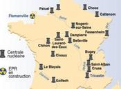 Carte sites nucléaires français