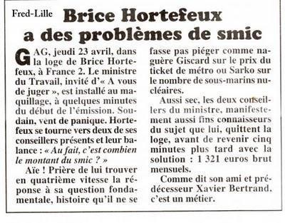 Quand Brice Hortefeux se fait recaler sur ... le taux d'alcoolémie légal !