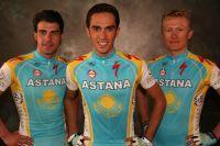Oscar Pereiro, Alberto Contador et Alexandre Vinokourov