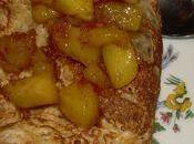 Crêpes l'ananas caramelise