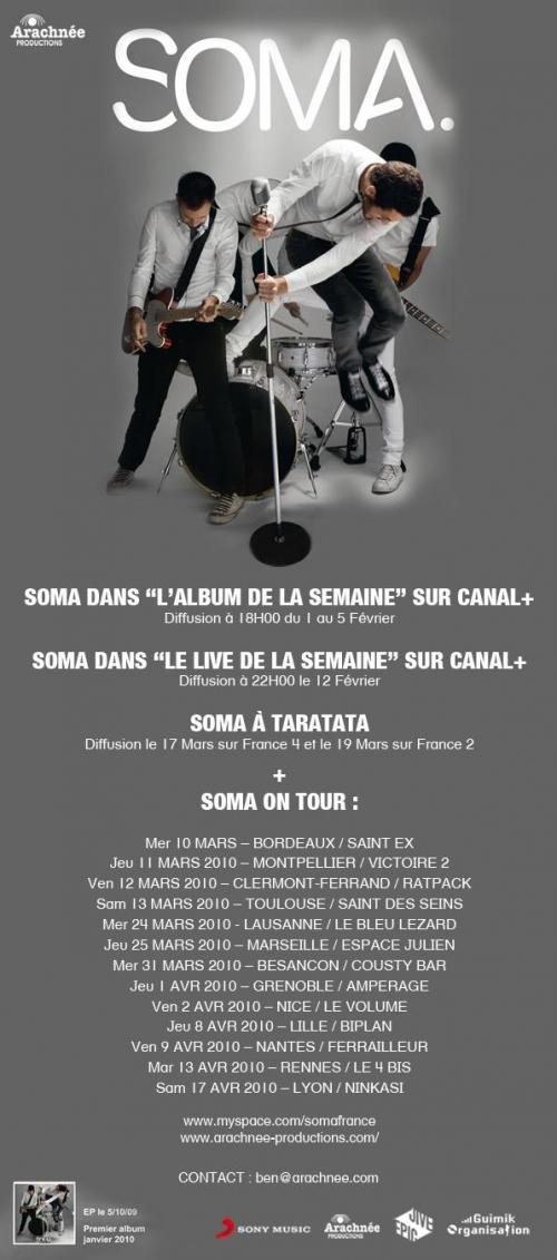 Agenda musical: SOMA on Tour