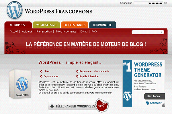 Création de blogs Wordpress