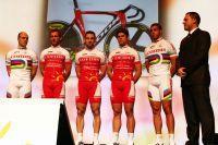 La section piste de Cofidis : Maximilian Levy, Teun Mulder, François Pervis, Quentin Lafargue, Kevin Sireau et Arnaud Tournant
