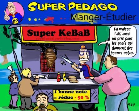 Après la cagnotte contre l'absentéisme, le kebab moitié prix pour les élèves méritants