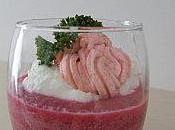 Verrine mousse betteraves chèvre