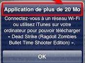 iPhone: téléchargez applications 20Mb