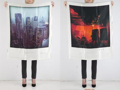 POLAROID SCARVES by PHILIPPE ROUCOU