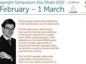 Dhabi discute internationalement protection droit d'auteur