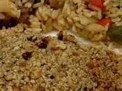 Filets saumon croûte noix grenoble croquante