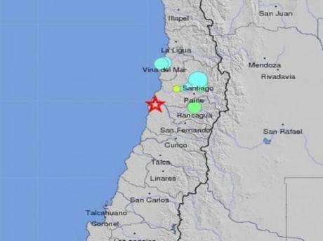 Un séisme de forte magnitude et destructeur, 7.2 sur l'échelle de Richter, vient de frapper le Chili à 14 h 39, Temps Universel...