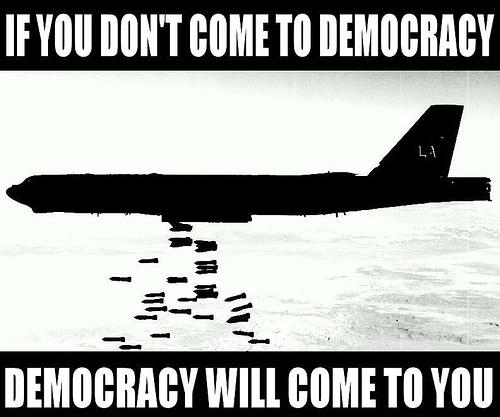 Democracy will come to you !