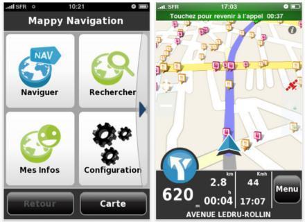 Concours : Logiciel de navigation GPS Mappy France iPhone !