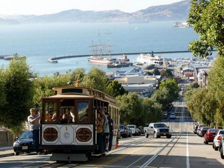 Tramway sur Hyde Street, à San Francisco, aux Etats-Unis