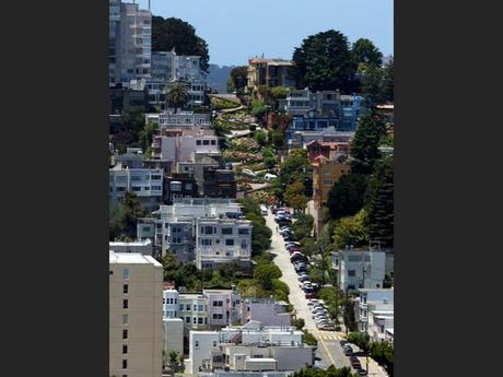 Lombard Street à San Francisco, aux Etats-Unis