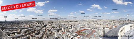 Photo panoramique géante de Paris 26 mégapixels en ligne