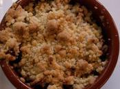 Crumble réglisse pommes poires