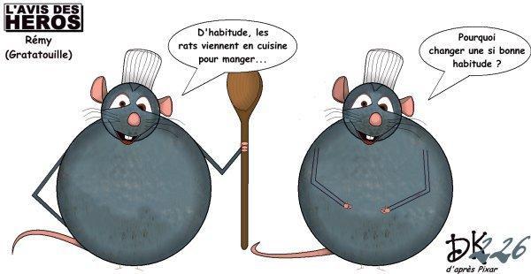 L 39 avis des h ros r my de ratatouille paperblog for Cuisinier humour