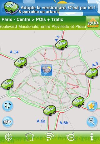 iPhone - application - GPS - Trafic Xpress