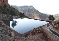 Extraordinaire piscine naturelle d'eau fraîche au-dessus d'Agadir