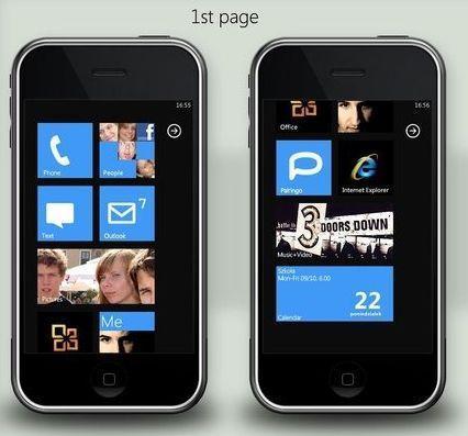 Thème Windows Phone 7 pour iPhone