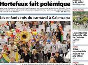 Corse-Matin dans kiosques aujourd'hui suite grève 24h.